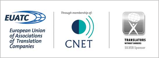 Membre EUATC & CNET - Sponsor silver Translators without borders