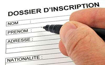 Recrutement - dossier d'inscription